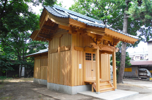 中山諏訪神社 改築工事