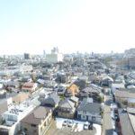 新潟市中央区上空です。