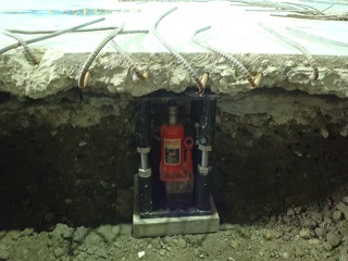 コンクリート土間修理しました。