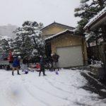 今年初めての除雪。