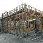 木造軸組建て方完了