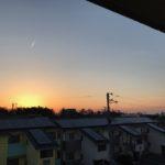 夕日がきれいに見えるマンションです。