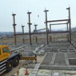 鉄骨の建て方開始