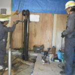 重機不要の鋼管杭打ち込み工法