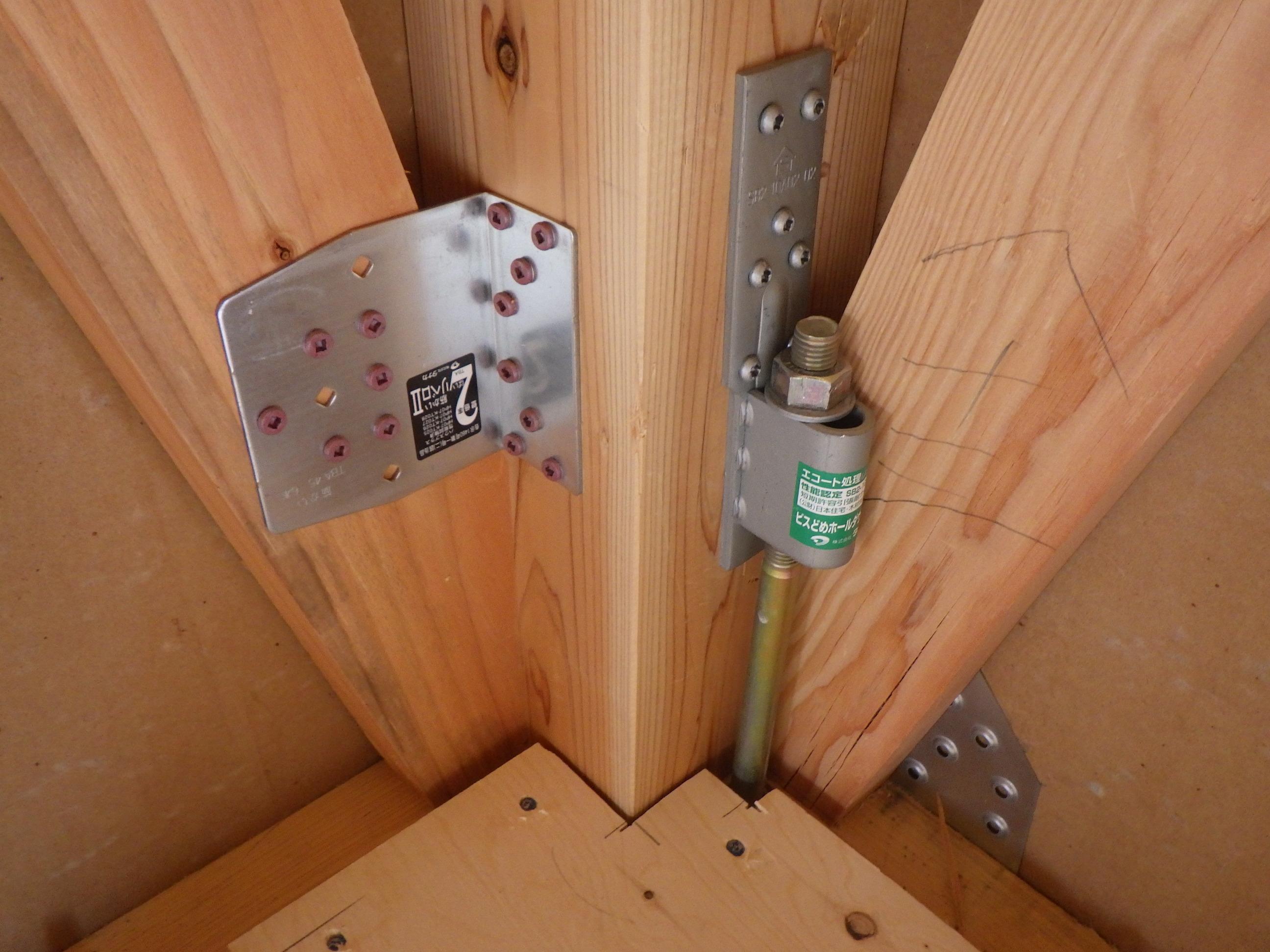 某様邸、木造住宅の構造検査を受けました。