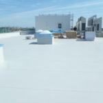 屋上シート防水状況