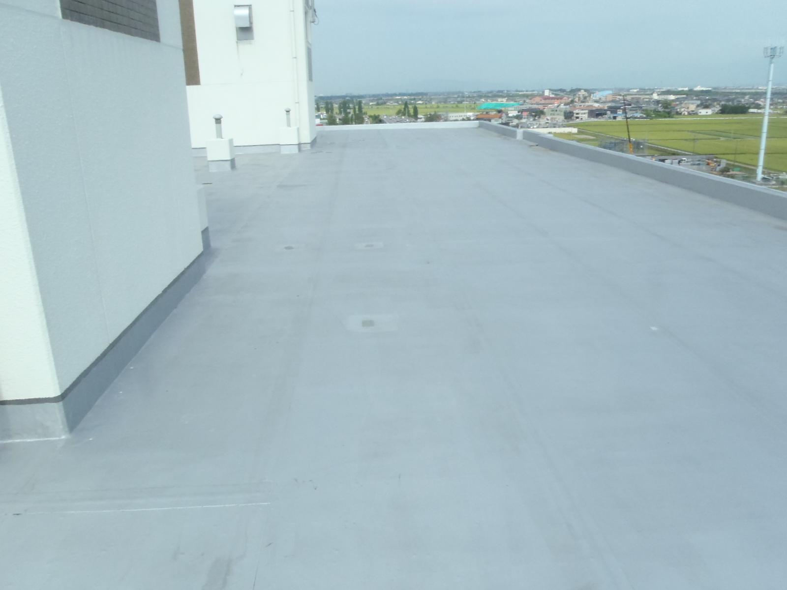 マンションの屋上防水工事の着手前