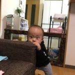 掴まり立ち!!