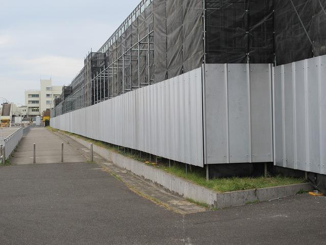 外部足場 仮囲い組立
