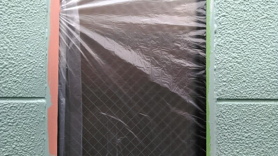 外壁塗装工事の養生