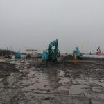 工事現場の広さと重機