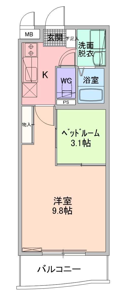 【賃貸】ウッドソレル 西区山田の1SK