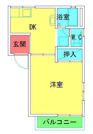 【賃貸】中央区川岸町 リバーサイドハイムA202