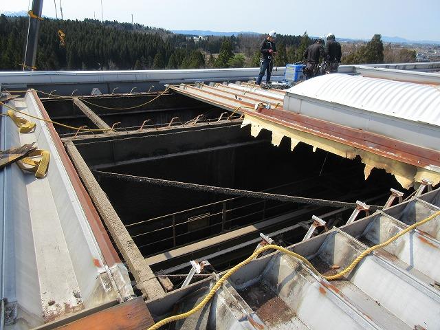 屋根折板取替工事