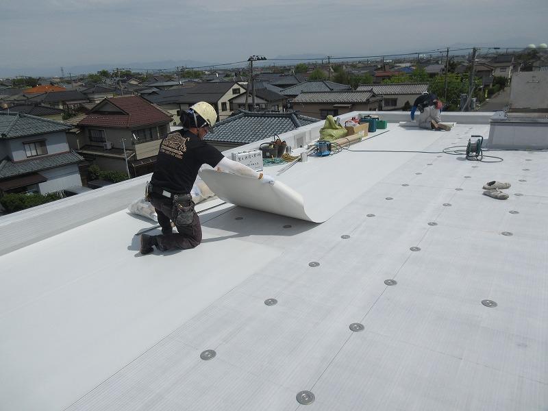 屋上シ-ト防水改修