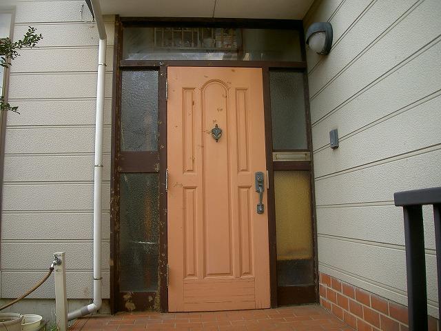 木製玄関ドア新設時への復活